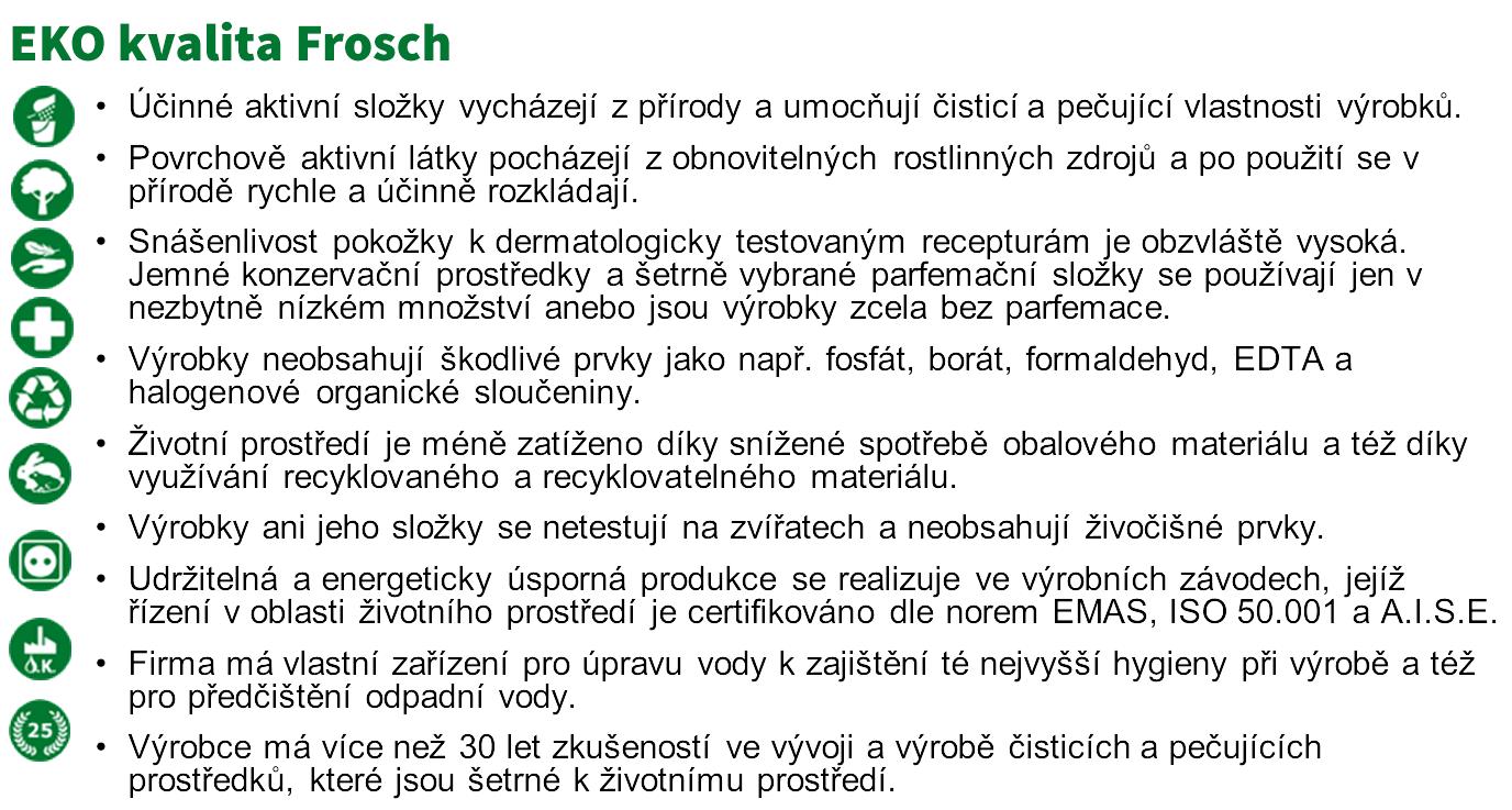 EKO kvalita Frosch